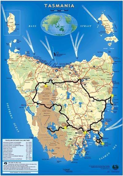 Tasmania Route