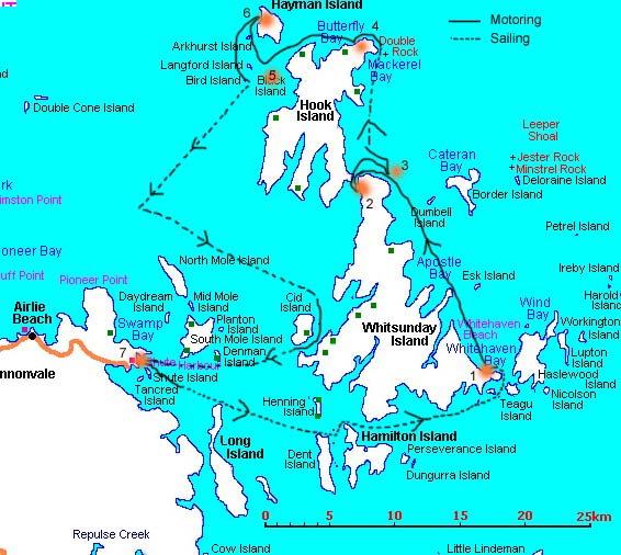 Whitsundays Route